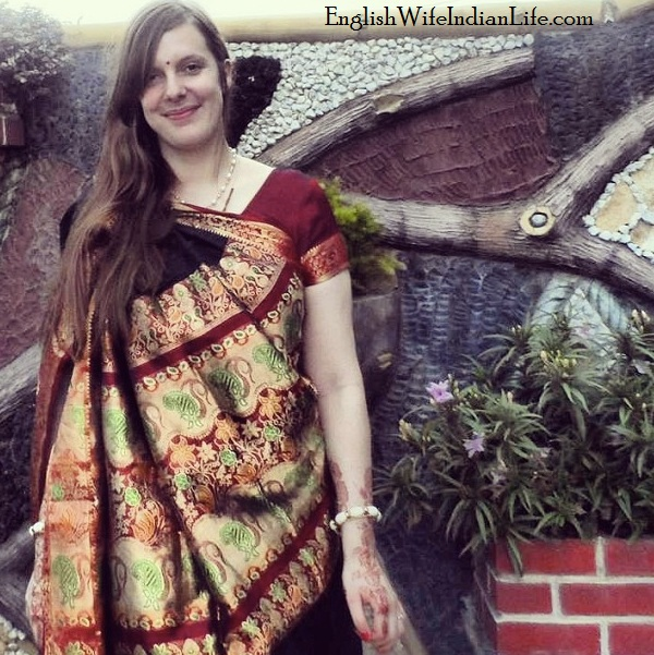 Beautiful black saree | How it Feels to be an English Wife Living with my Indian Inlaws