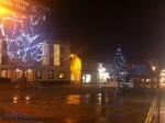 English Town at Night during Christmas Time