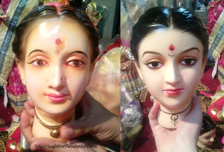 old and new head of lakshmi