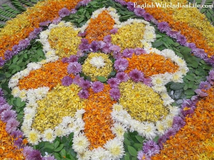 Diwali flower rangoli!